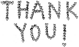 thankyou hearts