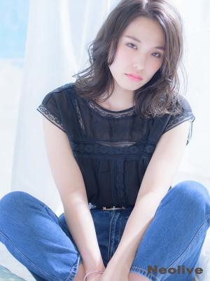 黒髪クールセミロング☆