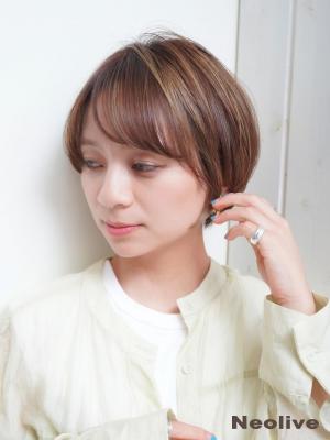 【Neolive east】小顔ひし形ワンサイドショートボブ