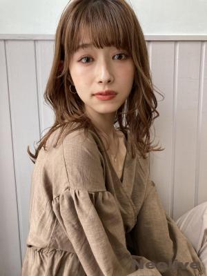 20.30.40代◎小顔前髪*似合わせレイヤーミディアム.