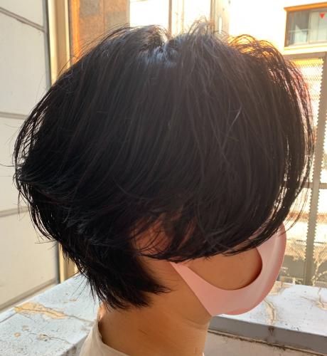 毛流れパーマ