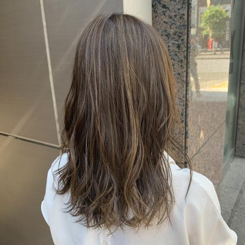 白髪染めハイライトカラー