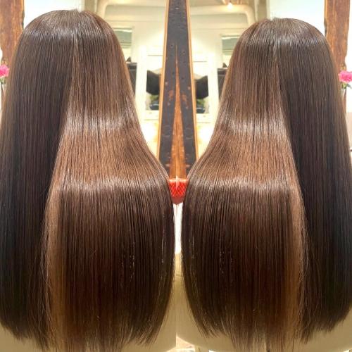 髪のうねりや広がり紫外線ダメージにも◎酸熱 高田馬場 美容室 髪質改善トリートメント