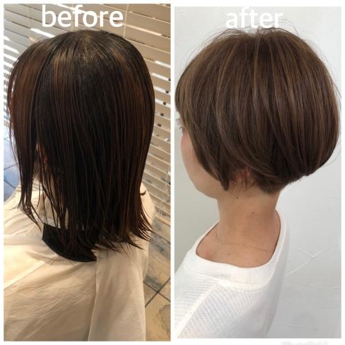 大人の女性に!収まりの良いショートボブ☆高田馬場 美容室 酸熱 髪質改善トリートメント
