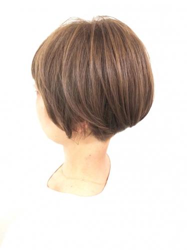 大人女性に◎収まりの良いショートボブ☆高田馬場 美容室 酸熱 髪質改善トリートメント