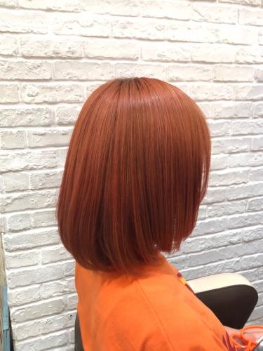 ビタミンカラーオレンジ☆高田馬場 美容室 酸熱 髪質改善トリートメント