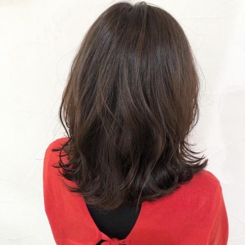オフィスでも大好評のグレージュカラースタイル☆高田馬場 美容室 酸熱 髪質改善トリートメント