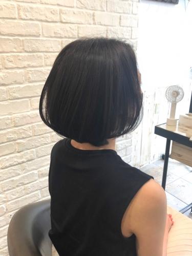 大人の女性に◎色気が上がる耳掛けボブ☆高田馬場 美容室 酸熱 髪質改善トリートメント