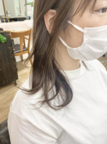 白髪率30%*インナー白髪ぼかしハイライト