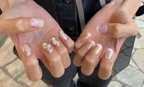 new nail ▼ オーロラ ミラー
