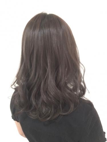 透明感カラーグレージュで大人可愛いミディアム☆高田馬場 美容室 酸熱 髪質改善トリートメント