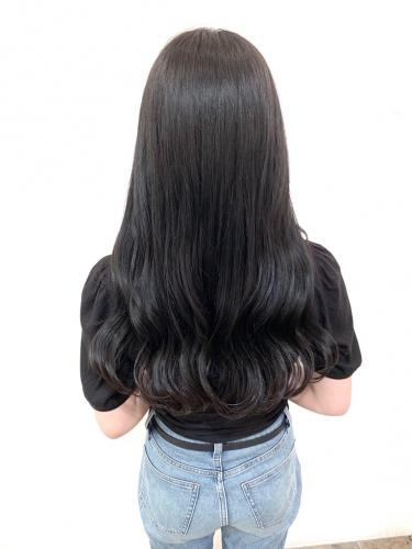 艶カラーのオリーブブラックで地毛風カラーに☆高田馬場 美容室 酸熱 髪質改善トリートメント