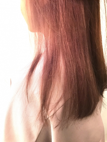 Neolive ora 黒染め履歴にピンクカラー☆