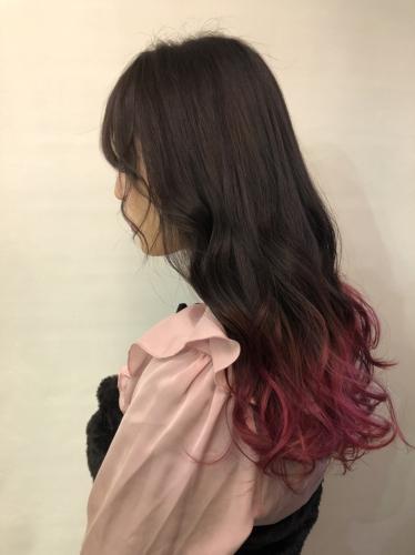 #ピンクグラーデーションカラー♪