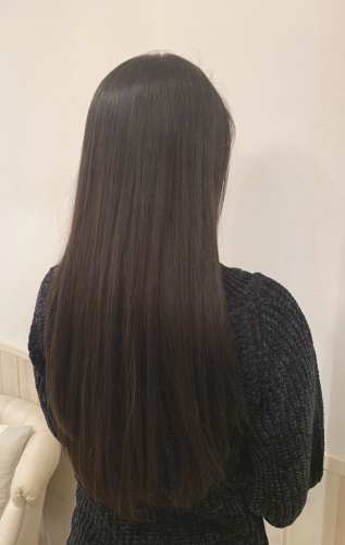 透明感暗髪カラー