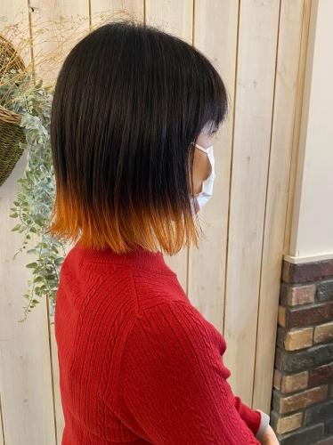 裾カラー 浅草 美容室 高木