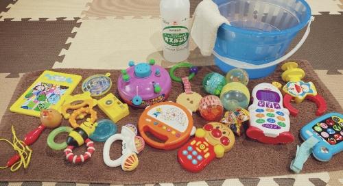 キッズルームのおもちゃ除菌◎