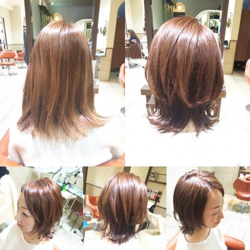 退色して明るくなってしまった髪色をモカベージュにカラー☆