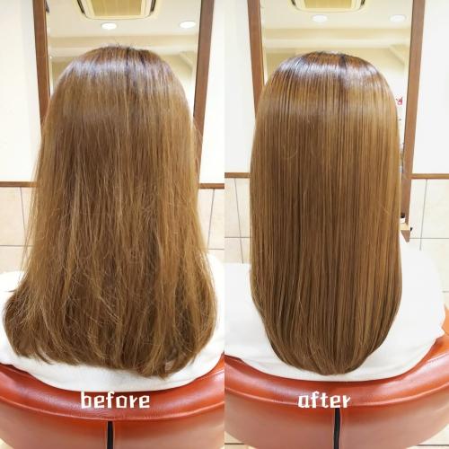 髪質改善酸熱トリートメント、ハホニコラメラメトリートメント 美髪
