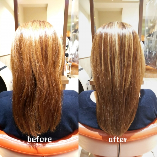 髪質改善メニューで美髪☆