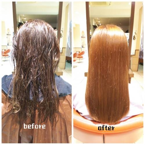 軟毛で絡まりやすい髪も髪質改善酸熱トリートメントとラメラメトリートメントでハリコシのある美髪に☆