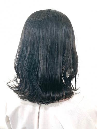 冬カラー☆透け感たっぷり暗髪カラースタイル☆高田馬場 美容室 酸熱 髪質改善トリートメント