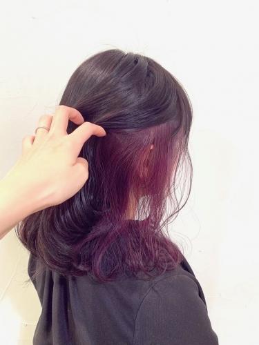 学生さんにもオススメ☆お洒落なインナーカラー☆高田馬場 美容室 酸熱 髪質改善トリートメント
