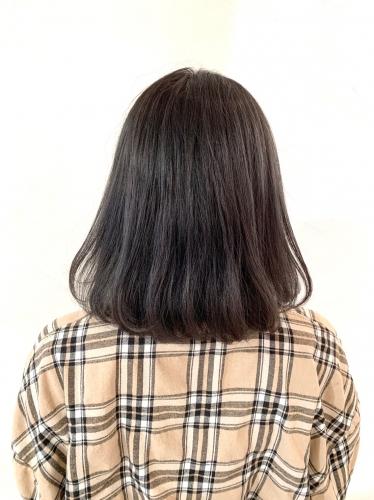 アディクシーカラーサファイアで作る暗髪カラー☆高田馬場 美容室 酸熱 髪質改善トリートメント