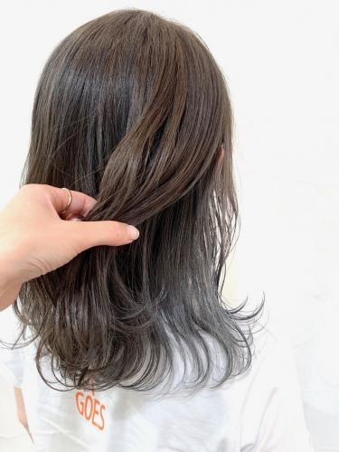 インナーカラー×アッシュグレー☆高田馬場 美容室 酸熱 髪質改善トリートメント