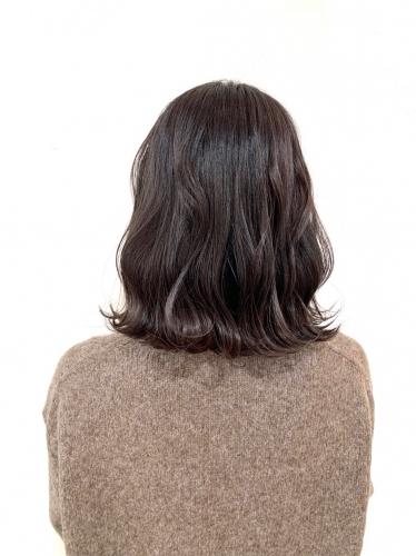 ダークアッシュの暗髪カラースタイル☆高田馬場 美容室 酸熱 髪質改善トリートメント