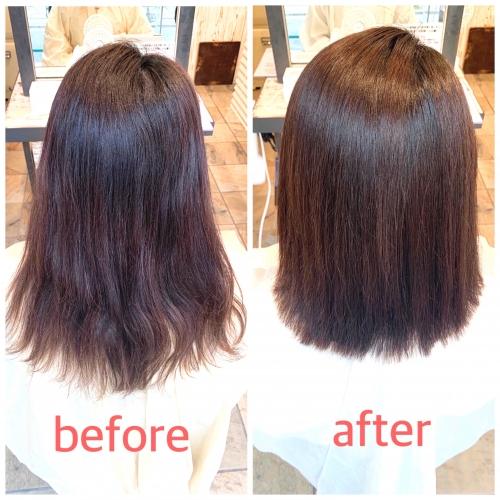 梅雨の季節に☆クセやうねりをまっすぐ縮毛矯正☆高田馬場 美容室 酸熱 髪質改善トリートメント