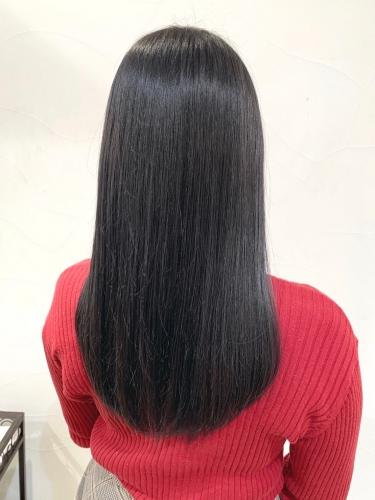 オフィス向け◎暗髪でも重くならないロングヘア☆高田馬場 美容室 酸熱 髪質改善トリートメント