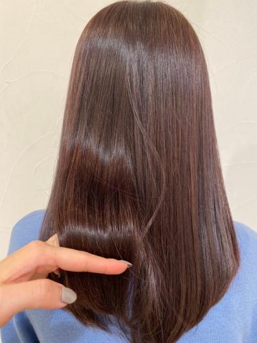 酸熱トリートメント+カラー☆高田馬場 美容室 酸熱 髪質改善トリートメント